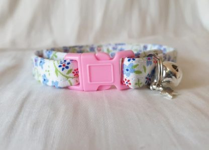 Cotton Bow Blue Daisy Flower Cat Kitten Collar _4