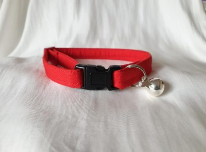 Red Cotton Cat Kitten Safety Collar 2