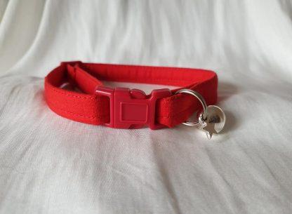 Red Cotton Cat Kitten Safety Collar 3
