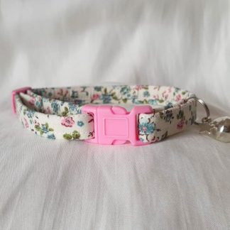 Cotton Vintage Blossom Flower Cat Kitten Collar _1