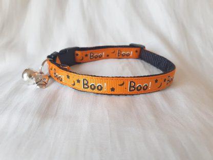 Halloween Spooky Boo Kitten Cat Collar_orange _ 1