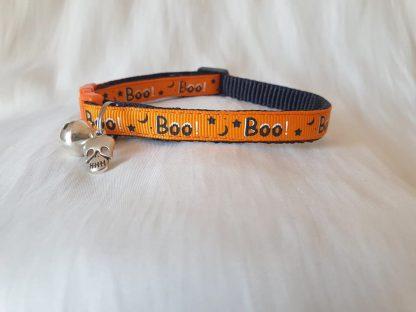 Halloween Spooky Boo Kitten Cat Collar_orange _ 3