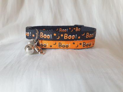 Halloween Spooky Boo Kitten Cat Collar_2