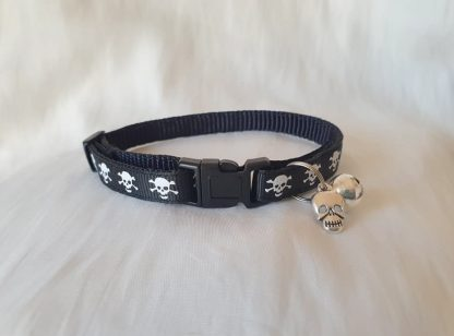 Halloween Skulls Kitten Cat Collar Black 1