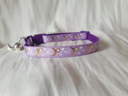 Handmade cat collar purple 1